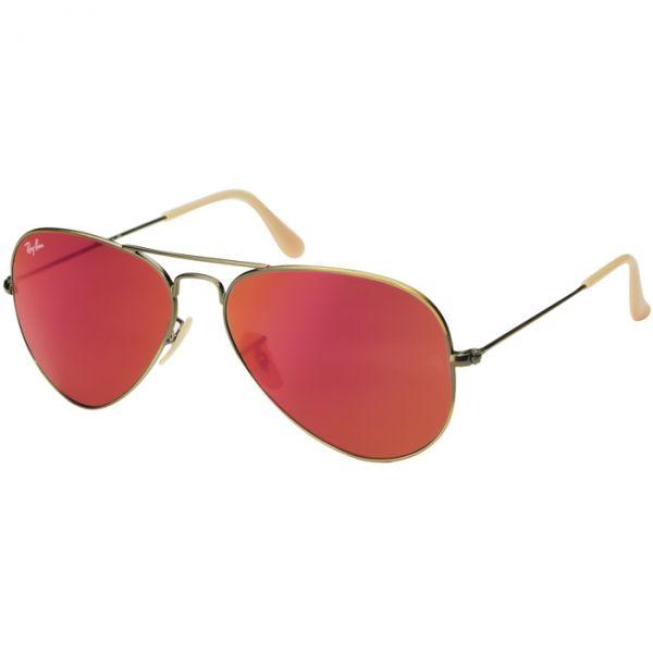 Óculos Ray Ban Aviador Espelhado RB3025167 2K 58 Dourado Escuro Fosco Metal 8608481b88