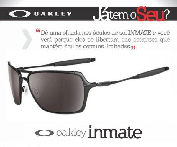 bc4fdeb7d0c3b BLOG AMAZON MODA PRAIA   Oakley Inmate - Óculos de Sol Light Black ...